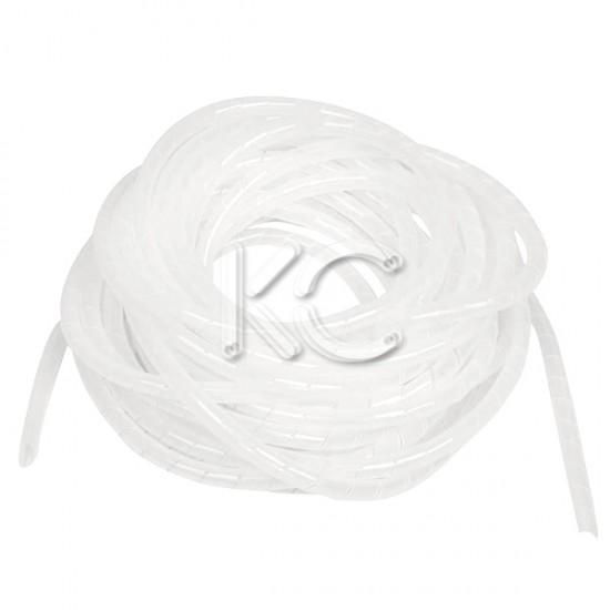 Лента спиральная монтажная пластиковая ЛСМ-06 белый (10м/упак.) КС