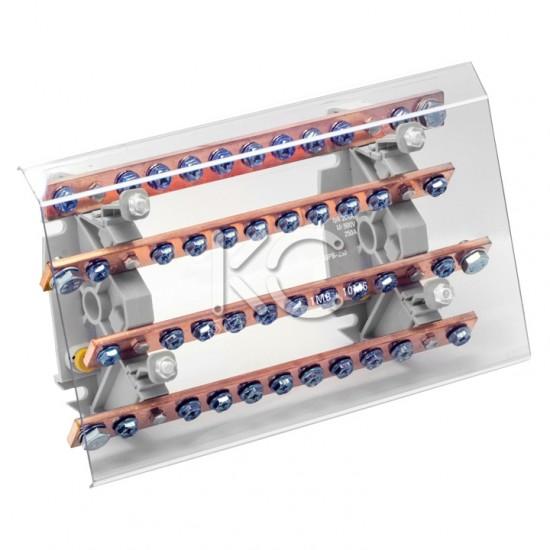 Блок распределительный на DIN-рейку РБ (шинный)-250А-КС