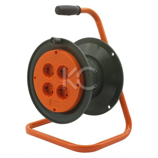 Катушка без провода GLANZEN 4штепс.гнезда с заземлением Ф210мм