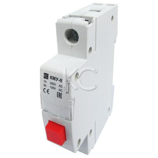 Кнопка управления модульная КМУ-11, 1НО, AC230В (красная, с фиксацией) КС