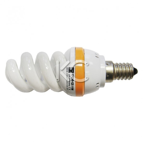 Лампа энергосберегающая 11 Вт E14 YPZ48-QS 220В 2700К КС