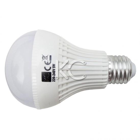 Лампа светодиодная (аварийная) А70-5W-3000K-430Lm-E27-КС