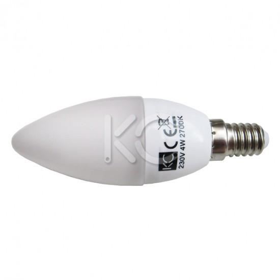 Лампа светодиодная C35-4W-2700K-E14-KC