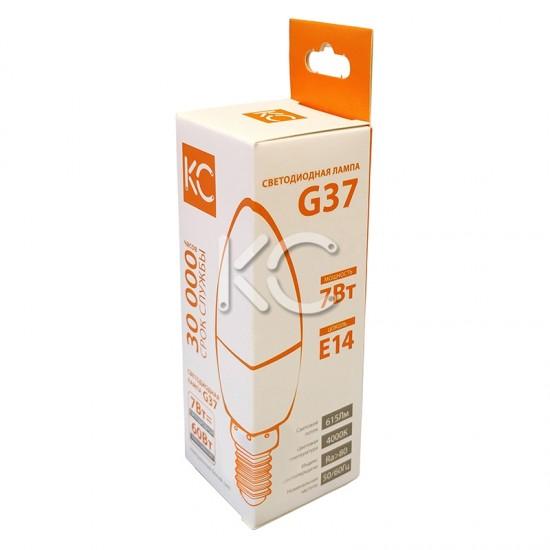 Лампа светодиодная G37-7W-4000K-E14-KC