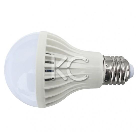 Лампа светодиодная (с оптико-акустическим датчиком) А70-9W-6000K-E27-КС