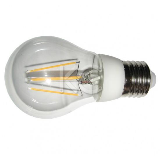 Лампа светодиодная (стекло) А55-4W-2700K-E27-КС