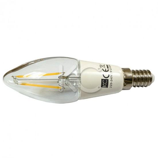 Лампа светодиодная (стекло) BT35-2W-2700K-E14-КС