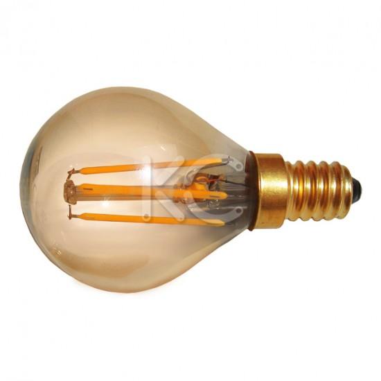 Лампа светодиодная (стекло.VINTAGE) G45-4W-2200K-E14-KC