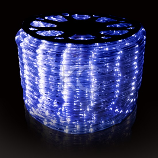 Лента светодиодная SMD-LED (дюралайт LED-Raund-3W-100M-220V) синий-KC