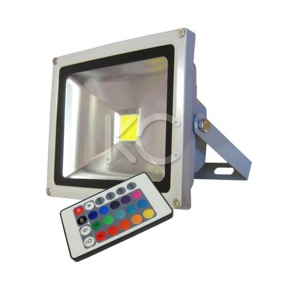 Прожектор LED TV-272(мнцв/пульт)-20W-IP65-КС