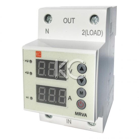 Реле напряжения и тока с дисп. MRVA 63A КС