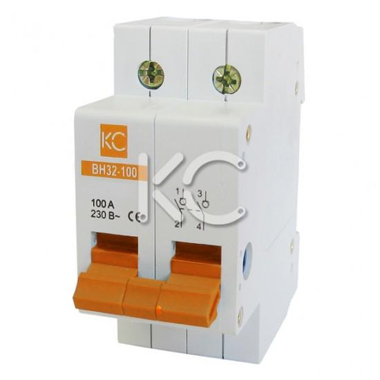 Выключатель нагрузки ВН32-100  (25А 2Р) КС