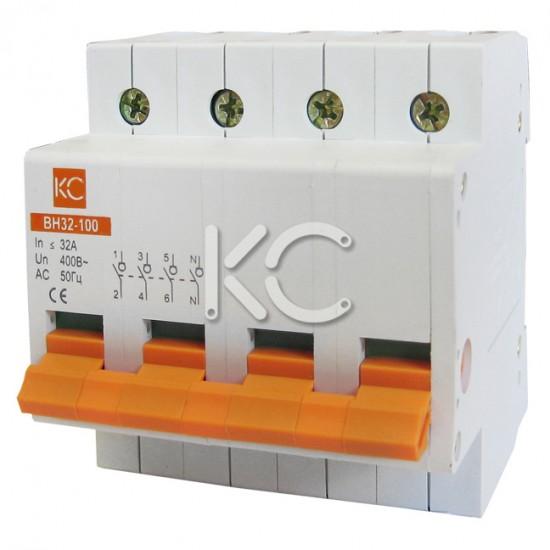 Выключатель нагрузки ВН32-100  (32А 4Р) КС