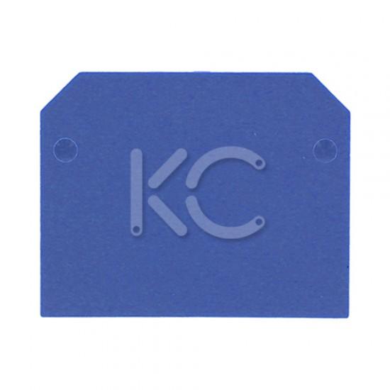 Заглушка торц. для клеммных зажимов 125А синяя КС